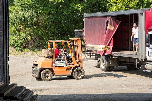 deliver lumber