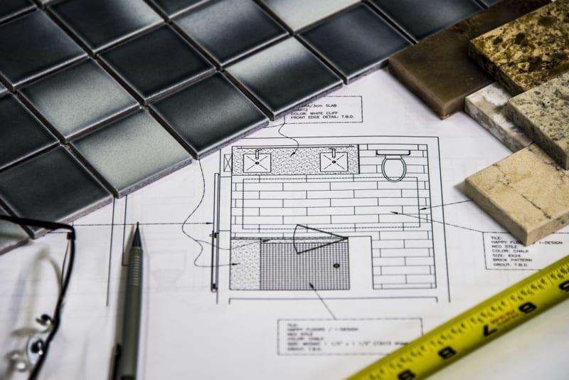 Blueprints and building materials
